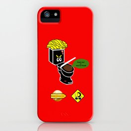 Dump in Toilets with Dirty Suites iPhone Case