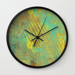 Shredded Sky Abstract Wall Clock