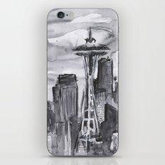 Seattle Skyline Watercolor Space Needle Washington PNW iPhone & iPod Skin