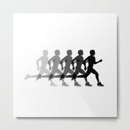 Sports man running Metal Print