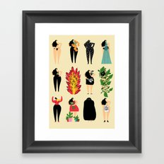 All of us live here Framed Art Print