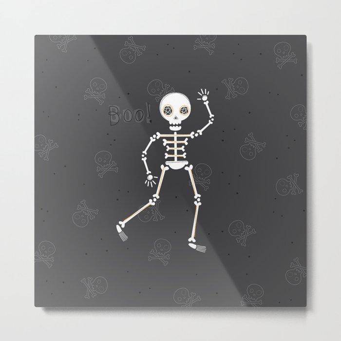 Spooky Skeleton Halloween Metal Print