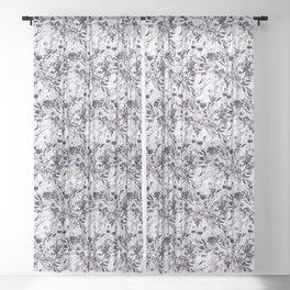 Flower Joy in B+W Sheer Curtain