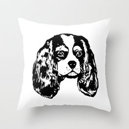 ift Wrapped For Christmas Cavalier King Charles Spaniel Dog Lover Gifts,G Throw Pillow