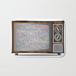 Old Television Static Bath Mat
