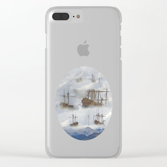 Cloudships Clear iPhone Case