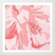 Intimate Pink  Art Print