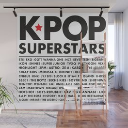 KPOP Superstars Original Boy Groups Merchandse Wall Mural