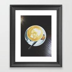 Cappuccino, Please Framed Art Print