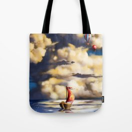 Clouds and stars Tote Bag