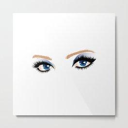 Blue eyes with make up Metal Print