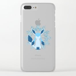Minimal Glaceon Clear iPhone Case