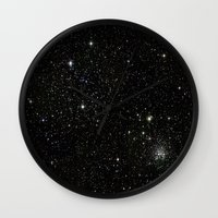 universe Wall Clocks featuring Universe  by Jaylin F.