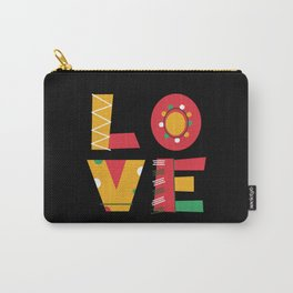 L O V E love block letters monogram colourful Carry-All Pouch