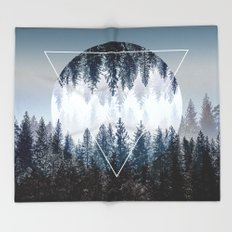 Woods 4 Throw Blanket