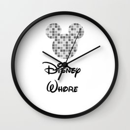 Disey Whore Wall Clock