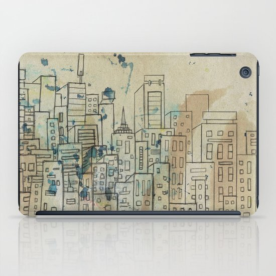 Sketch of buildings in a city that doesn't exist iPad Case