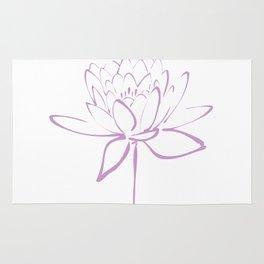 Lotus Blossom Calligraphy Lavender Rug