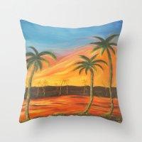 desert Throw Pillows featuring Desert by ArtSchool