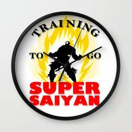 Training to go SUPER SAIYAN Wall Clock