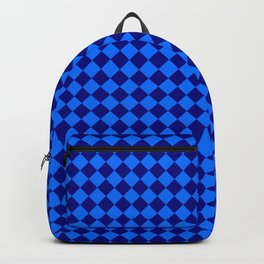 Brandeis Blue and Navy Blue Diamonds Backpack