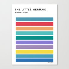 The colors of - The little mermaid Canvas Print