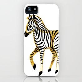 Gold Zebra iPhone Case