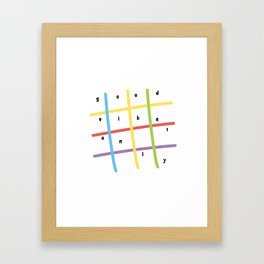 Good vibes only, colorful lines Framed Art Print
