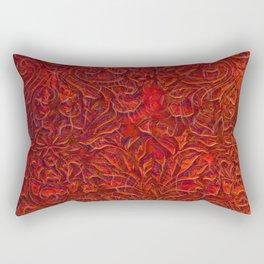 Burnt Orange Textured Abstract Rectangular Pillow