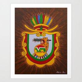 Escudo de Guerrero Art Print