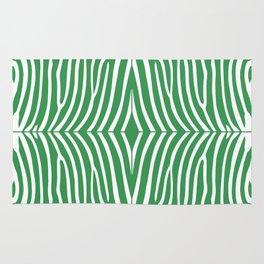 Kelly Green Zebra Rug