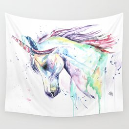 Colorful Unicorn Watercolor Painting - Kenzie's Unicorn Wall Tapestry