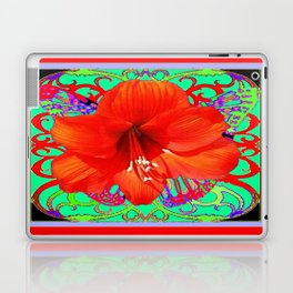 Italian  Style Design Red Amaryllis Abstract Laptop & iPad Skin