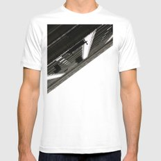 Vertical  Mens Fitted Tee White MEDIUM