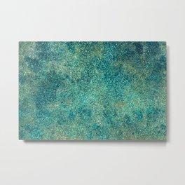 Oxidized Copper Metal Print