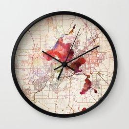Madison map Wall Clock