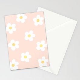 Retro 60's Flower Power Print 3 Stationery Cards