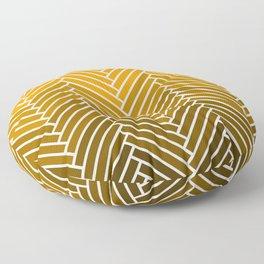 Parquet All Day - Gold Lamé Floor Pillow