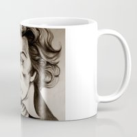 beethoven Mugs featuring Ludwig van Beethoven by Lord Marshall