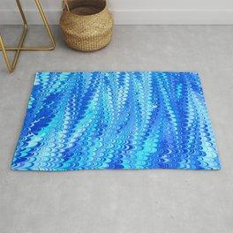Marbled Non-pareil Blue Rug