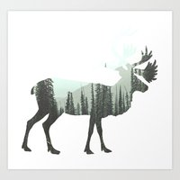 elk Art Prints featuring Elk by Luke Gram