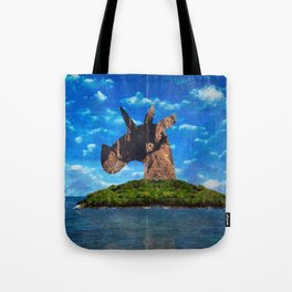 Island Head Unicorn Tote Bag