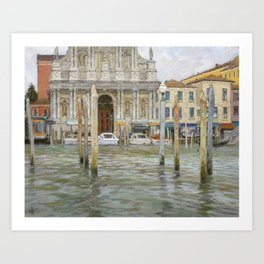 Venice, St. Maria Church Art Print
