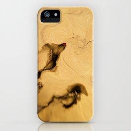 Beige Paint - Macro Photography iPhone Case