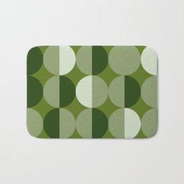 Retro circles grid green Bath Mat