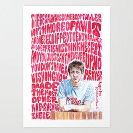 Bigger Boys and Stolen Sweethearts - Arctic Monkeys Art Print