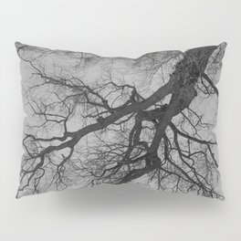 Lungs of the Earth | Nature Photography | Weeping Willow | Black and White | black-and-white | bw Pillow Sham