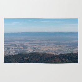 View at the mountains Rug