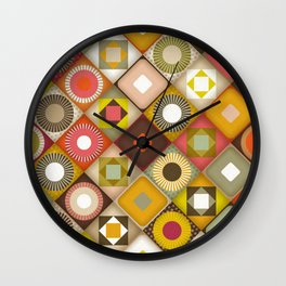 parava retro diagonal Wall Clock