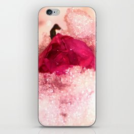 Frozen rose iPhone Skin